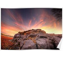 The Rock Wall at sunset Poster