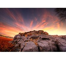 The Rock Wall at sunset Photographic Print