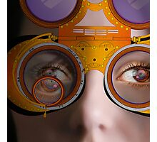 eye as a lens - steampunk variations - detail perspective Photographic Print