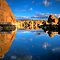 Watson Lake Sky/Rock reflect by Bob Larson