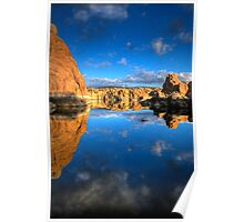 Watson Lake Sky/Rock reflect Poster