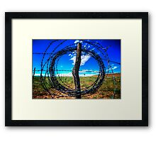 Circle Wire Framed Print