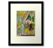jungle wrestle Framed Print