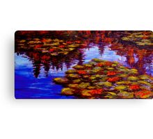 Luscious Lilies on Monet's Pond Canvas Print