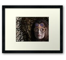 eye as a lens - steampunk variations - beyond the stone tower Framed Print