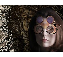 eye as a lens - steampunk variations - beyond the stone tower Photographic Print