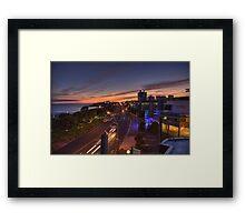 New Plymouth Sunrise Framed Print