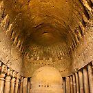 Prayer Hall at Kanheri Caves by Nickolay Stanev