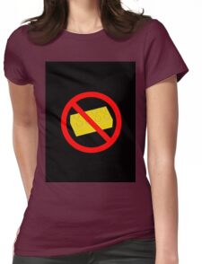 """Road Traffic Sign """"NO BRICK"""" Womens Fitted T-Shirt"""