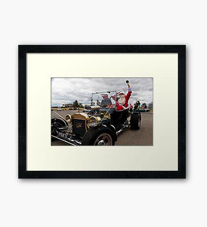Santa's New Sleigh Framed Print