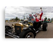 Santa's New Sleigh Canvas Print