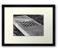 Waiting for players Framed Print
