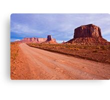 Monument Valley Road Canvas Print