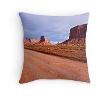 Monument Valley Road Throw Pillow