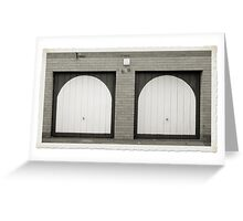 Double Garage, Niddrie Greeting Card