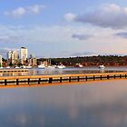 Matilda Bay Jetties At Dawn  by EOS20