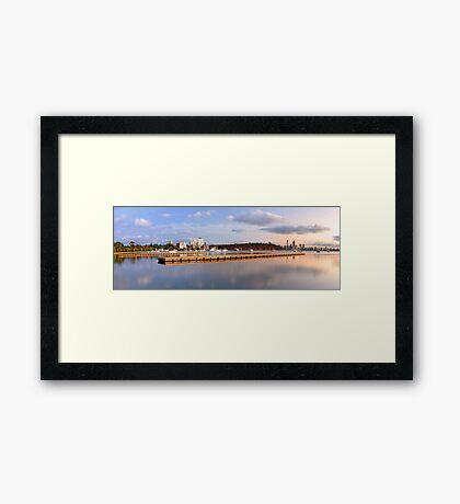 Matilda Bay Jetties At Dawn  Framed Print