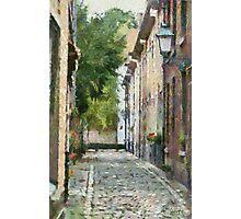Beguinage street Lier - Belgium Photographic Print