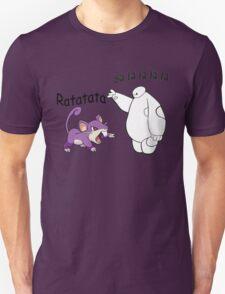 Baymax and Ratata Pokemon Fist Bump Unisex T-Shirt