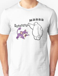 Baymax and Ratata Pokemon Fist Bump T-Shirt