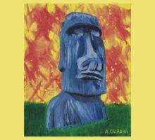 Easter Island Moai - Shirt by Alejandro Cuadra