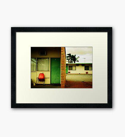 Motel Moribundity Framed Print