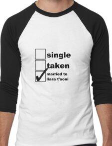 Single, Taken, Married to Liara T'Soni Men's Baseball ¾ T-Shirt