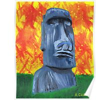 Easter Island Moai - Painting Poster