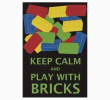KEEP CALM AND PLAY WITH BRICKS One Piece - Short Sleeve
