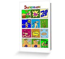 Superclerk (white background) T-shirt Design Greeting Card