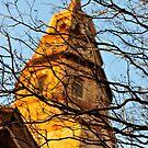 Church Steeple Aglow by mrthink