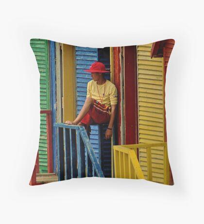 Beach colours Throw Pillow
