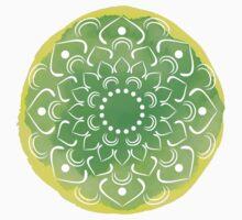 Watercolor green lotus Kids Tee