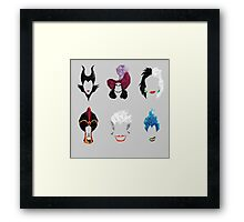 6 Villains Framed Print