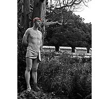 A Tortured Soul and his Bloody Crown of Thorns Photographic Print