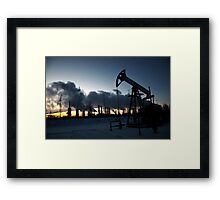 oil pump Framed Print