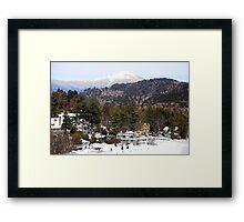 Mirror Lake Inn, Village of Lake Placid NY Framed Print