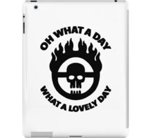Mad Max - Warboy Skull Wheel  - 'Oh What A Day, What A Lovely Day' iPad Case/Skin