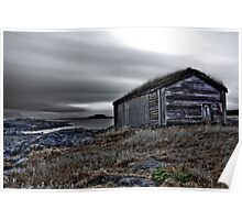 Viking boat shed. Poster