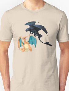 Charizard vs Toothless Night Fury T-Shirt