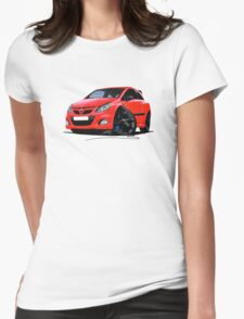 Vauxhall Corsa VXRacing Red Womens Fitted T-Shirt
