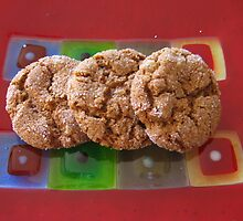 Art Glass Ginger Cookies by Lisa Patrick
