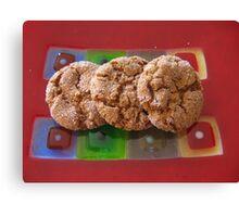 Art Glass Ginger Cookies Canvas Print