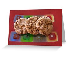 Art Glass Ginger Cookies Greeting Card