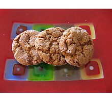 Art Glass Ginger Cookies Photographic Print