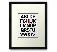 HI Framed Print