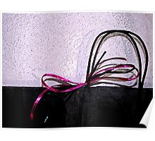 bag with ribbon Poster