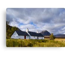 Blackrock Cottage, Glencoe Canvas Print