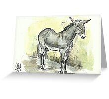 """Donkey"" Greeting Card"