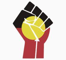 Raised Fist - Aboriginal Flag One Piece - Short Sleeve